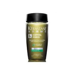 KERASTASE HOMME BAIN CAPITAL FORCE ANTIGRASSO 250 ML Sampon tratament pentru scalp gras, pentru barbati